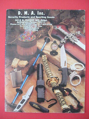 Vintage D.M.A. Security Products & Sporting Goods Catalog 100's of Knives Weapon