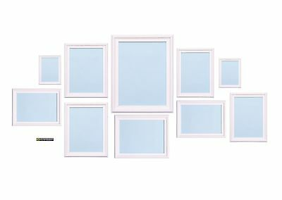 White 10 Piece Multi Picture Photo Frame Shabby Chic Collage