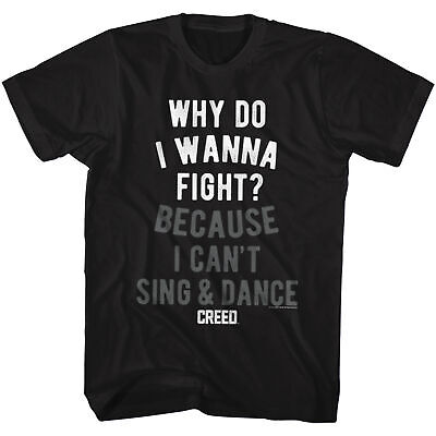 Rocky Mgm Movie Creed Why Do I Wanna Fight Adult American Classics T-Shirt Tee