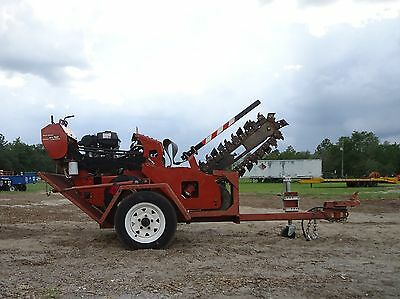 2011 Ditch With Rt12 Walk Behind Trencher With Trailer! Great Condition!
