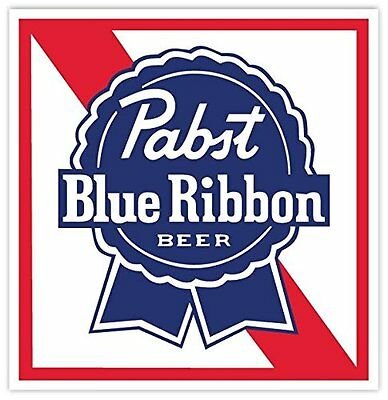 "PABST BLUE RIBBON Beer Vinyl Sticker Decal 9"" Car Bumper Laptop Toolbox"