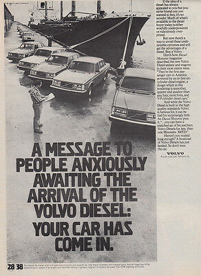1981 Volvo: Message to People Anxiously Awaiting the Arrival (28551) Print Ad