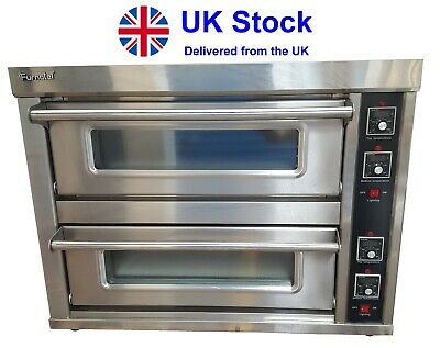 """NEW Commercial Pizza Oven Double Deck Electric single phase Stone Base 10x9"""""""