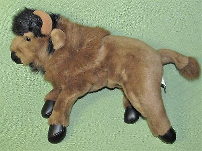 "Vintage 1992 MJC WATER BUFFALO Purr Fection Bison 16"" Long Plush Stuffed Animal"