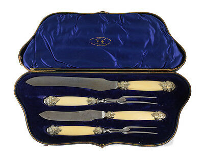 Joseph Rodgers & Sons Sheffield Gilt Sterling Silver, Celluloid Cutlery Set 1904