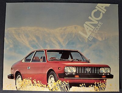 1976 Lancia Beta Coupe Sales Brochure Sheet Excellent Original 76