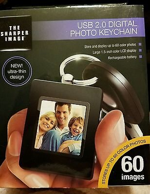 The Sharper Image Photo Digital USB 2.0 Keychain in Black