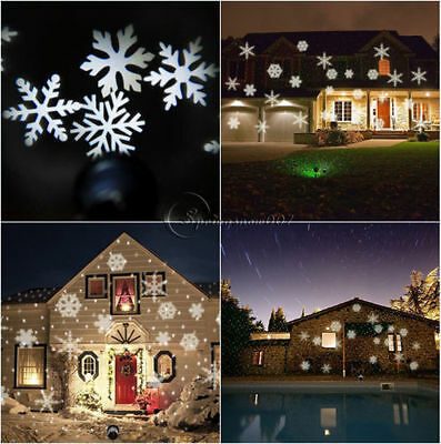 Christmas & Winter Snowflake  LED Lamp Laser Land Projector Lamp Xma Garden