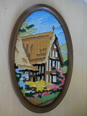 Long Stitch Hand Made Wall Hanging Finished & Framed Church Picture