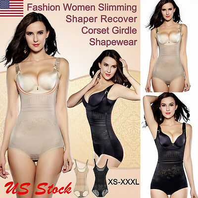 Women Full Body Shaper Underbust Tummy Control Slimming BodySuit Shapewear USA
