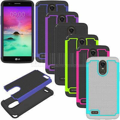 LG Stylo™ 3 Plus - Hybrid Rubber Dual Layer Impact Shockproof hard Case Cover