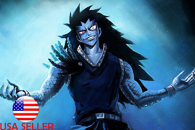 "Fairy Tail Gajeel 36"" x 24"" Large Wall Poster Print Fan Art Anime #1"