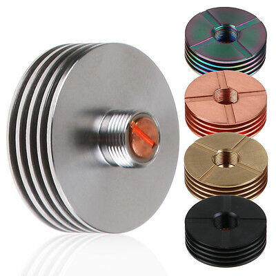 Stainless Steel 22mm Finned Heat Sink Adapter For 510 Thread RDA RBA Tank 2nd