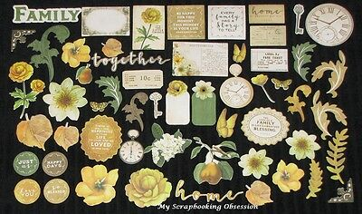 Kaisercraft 'GOLDEN GROVE' Collectables Die Cut Shapes Flowers KAISER *Deleted