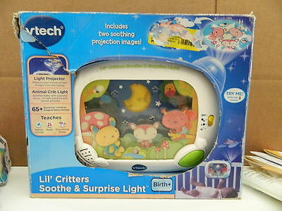 VTech Baby Lil' Critters Soothe and Surprise Light PROJECTOR 65+ Songs Sounds