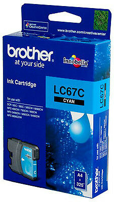NEW Brother LC-67 Cyan Ink Cartridge - Estimated Page Yield: 325 pages