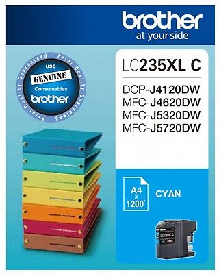 NEW Brother LC235XL Cyan Ink Cartridge - Estimated Page Yield 1200 pages