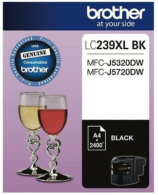 NEW Brother LC239XLBK Black Ink Cartridge - Estimated Page Yield: 2400 pages