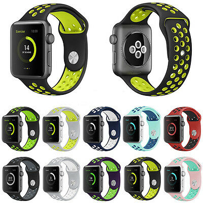 new Soft Silicone Replacement Strap Sport Band For Apple Watch 42mm/38mm iWatch