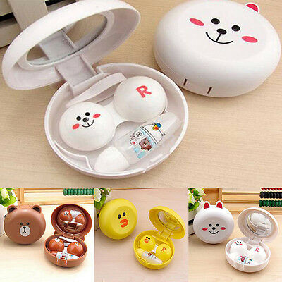 1x Mini Travel Portable Cute Animal Shape Contact Lens Case Container Holder Box