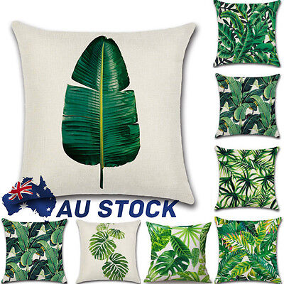 "18"" Tropical Linen Cotton Cushion Cover Waist Throw Pillow Case Home Sofa Decor"