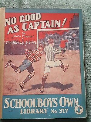 "Frank richards"" no good as captain !"" schoolboys own library number 317"