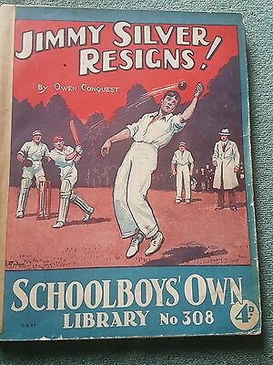 "Frank richards"" Jimmy silver resigns !"" schoolboys own library number 308"