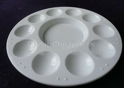 Utility White Plastic 10-well Round Paint Palettes Artist Pallette Hot Sale O1C