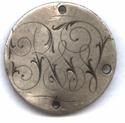 """1877-? Seated Dime Love Token * Ornate """" Rss"""" Or ? * Check It Out !!"""