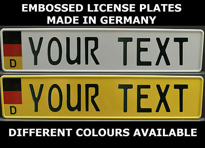 German Germany Flag European License Plate Euro Number Plate Custom Alu Logo