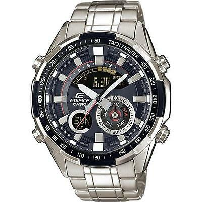 Casio Edifice ERA-600D-1AVUEF World Time Thermometer Stainless Watch RRP £170