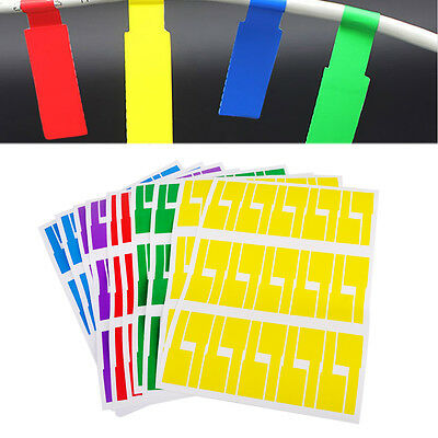 10 Sheets Self-adhesive Cable Labels Identification Markers Tags Sticker 5 Color