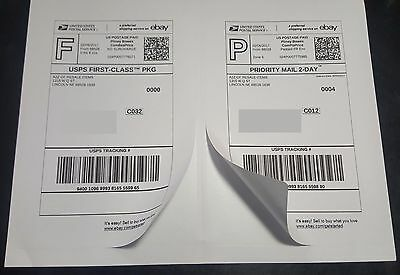 30 Shipping Labels 2 per sheet 8.5 X 11 Perforated ROUNDED Corners