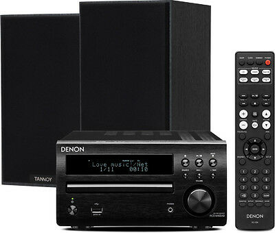 Denon D-M40DAB (Black) with Tannoy Eclipse One Speakers