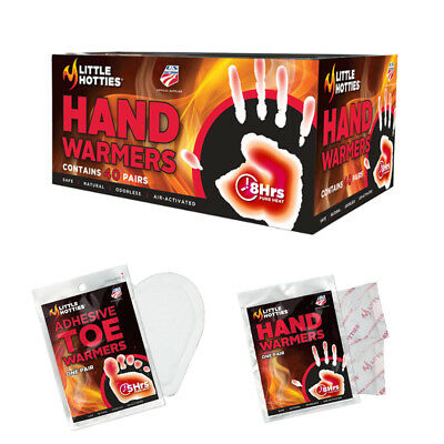 Little HOTTIES | 20 Pairs 40 Hand Toe Warmers | Heat Pack |Socks | Snow Ski BEST