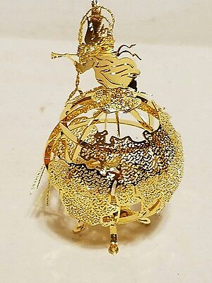 Danbury Mint Annual 2000 World Globe Gold Plated Christmas Ornament