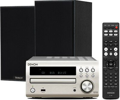Denon D-M40DAB (Silver) with Tannoy Eclipse One Speakers