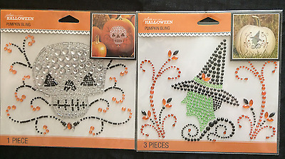 Jolee's Boutique Halloween Pumpkin Bling Spider,Skull or Witch Papercraft Cards