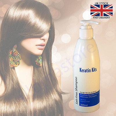 Brazilian Keratin Treatment Shampoo Soft & Silky Hair After Care Salt Free 300ml