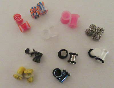 10 Pair Single Double Flare Screw Fit Plugs Tunnels 2 Gauge 2g Lot