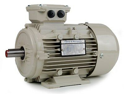 TECO Electric Motor 3 Phase IE3 Efficiency Aluminium B3 Foot mounting 2/4 Pole