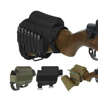 Tactical Nylon Rifle Cheek Rest Riser Pad Ammo Cartridges Holder Carrier Pouch