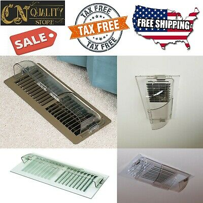 Air Conditioner Deflector Heating Floor Register Ceiling Vent Magnetic Cover AC