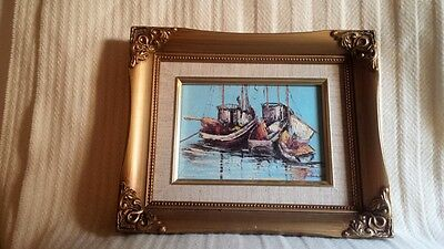 Superb Midcentury Oil Painting – Marine Seascape, Signed - Maine?