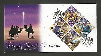 Pitcairn Islands 2011 Christmas Fdc Sg,844-847 Lot 4357A