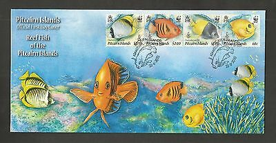 Pitcairn Islands 2010 Reef Fish Fdc Sg,807-810 Lot 4358A