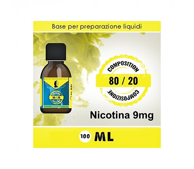 Lop Base Neutra 80/20 Nicotina 9Mg 100Ml Tpd (Aroma In Regalo)