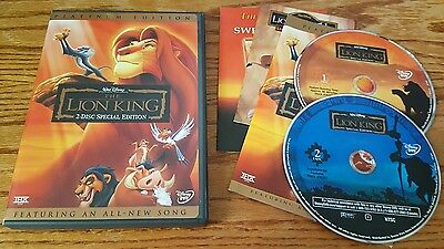 The Lion King (DVD, 2-Disc Special Platinum Edition) Walt Disney film RARE OOP