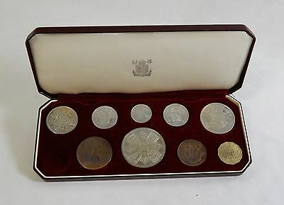 1953 Great Britain Coronation Proof Set Missing Farthing Threepence - 5 Shilling