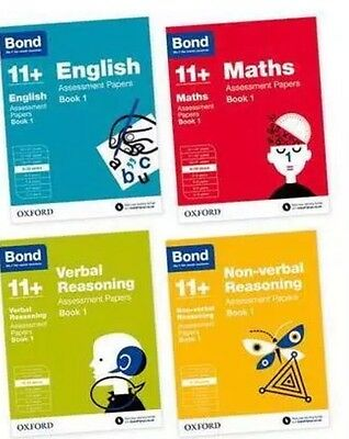 Bond 11+. 9-10 Years Assessment Papers 4 Books Maths,English,Verbal, Non-Verbal.